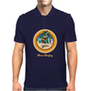 Woody Gone Surfing California Mens Polo
