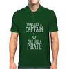 Work Like A Captain Play Like A Pirate Mens Polo