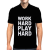 Work Out Play Hard Funny Mens Polo