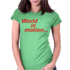 WORLD IN MOTION ENGLAND ITALIA 90 WORLD CUP FOOTBALL RETRO Womens Fitted T-Shirt