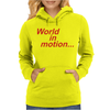 WORLD IN MOTION ENGLAND ITALIA 90 WORLD CUP FOOTBALL RETRO Womens Hoodie