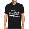 WORLDS GREATEST PLUMBER Mens Polo