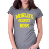 WORLDS OKAYEST BOSS Womens Fitted T-Shirt