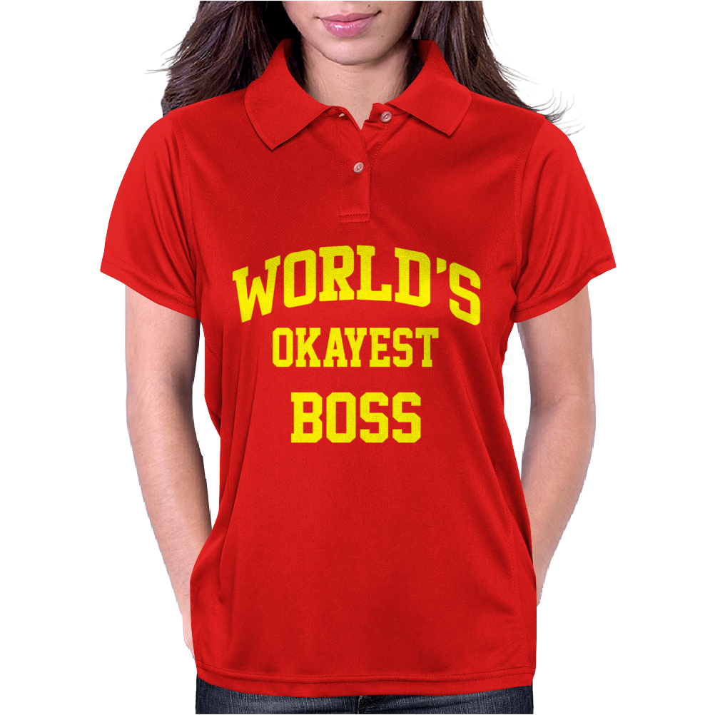 WORLDS OKAYEST BOSS Womens Polo