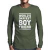 World's Okayest Boyfriend Couple Love Funny Mens Long Sleeve T-Shirt