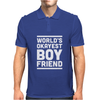 World's Okayest Boyfriend Couple Love Funny Mens Polo
