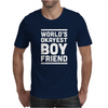 World's Okayest Boyfriend Couple Love Funny Mens T-Shirt