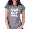 World's Okayest Boyfriend Couple Love Funny Womens Fitted T-Shirt