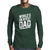 World's Okayest Dad Funny Mens Long Sleeve T-Shirt