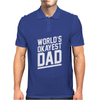 World's Okayest Dad Funny Mens Polo