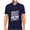 World's Okayest Mom Funny Mens Polo