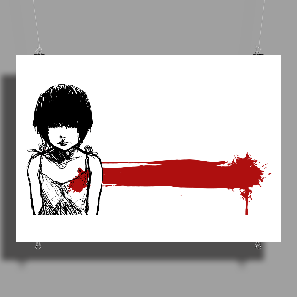 wounded heart art Poster Print (Landscape)