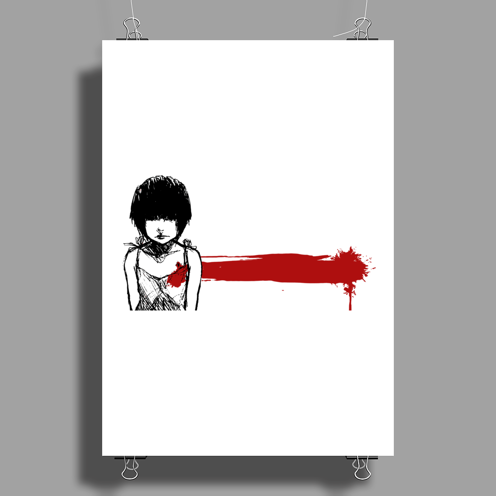 wounded heart art Poster Print (Portrait)