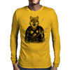 Wounded Lone Wolf Mens Long Sleeve T-Shirt