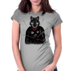 Wounded Lone Wolf Womens Fitted T-Shirt
