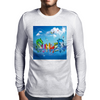 Wow, It's Summer Vaccation! Mens Long Sleeve T-Shirt