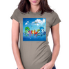 Wow, It's Summer Vaccation! Womens Fitted T-Shirt