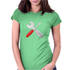 Wrench and screw Womens Fitted T-Shirt