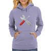 Wrench and screw Womens Hoodie