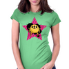 Yellow alien bug Womens Fitted T-Shirt
