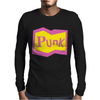 Yellow and Pink Punk Mens Long Sleeve T-Shirt