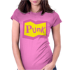 Yellow and Pink Punk Womens Fitted T-Shirt