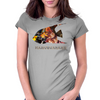 Yellow fish Womens Fitted T-Shirt
