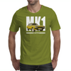 Yellow Ford Capri MK1 Classic Car Mens T-Shirt