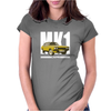 Yellow Ford Capri MK1 Classic Car Womens Fitted T-Shirt