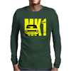 Yellow Ford Escort MK1 Retro Classic Car Mens Long Sleeve T-Shirt