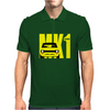 Yellow Ford Escort MK1 Retro Classic Car Mens Polo
