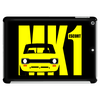 Yellow Ford Escort MK1 Retro Classic Car Tablet