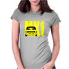 Yellow Ford Escort MK1 Retro Classic Car Womens Fitted T-Shirt