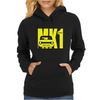 Yellow Ford Escort MK1 Retro Classic Car Womens Hoodie