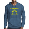 Yellow Ford Escort Old School Classic Car Mens Hoodie