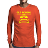 Yellow Ford Escort Old School Classic Car Mens Long Sleeve T-Shirt