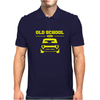 Yellow Ford Escort Old School Classic Car Mens Polo