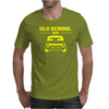 Yellow Ford Escort Old School Classic Car Mens T-Shirt