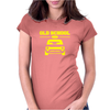 Yellow Ford Escort Old School Classic Car Womens Fitted T-Shirt