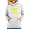 Yellow Ford Escort Old School Classic Car Womens Hoodie