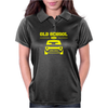 Yellow Ford Escort Old School Classic Car Womens Polo