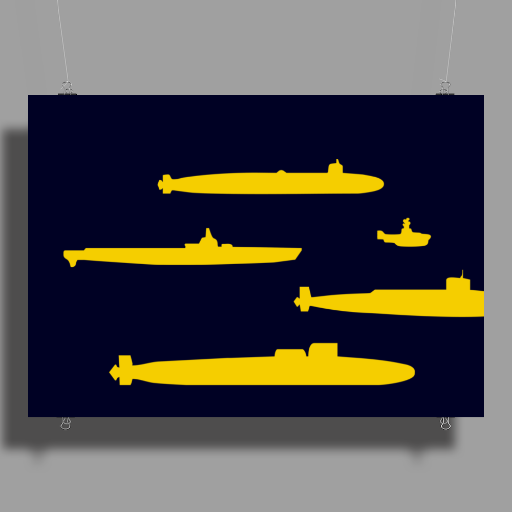 Yellow Submarines Poster Print (Landscape)