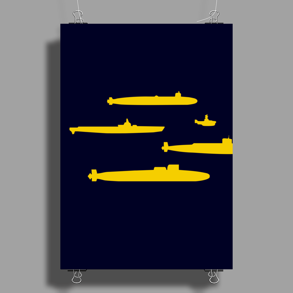 Yellow Submarines Poster Print (Portrait)
