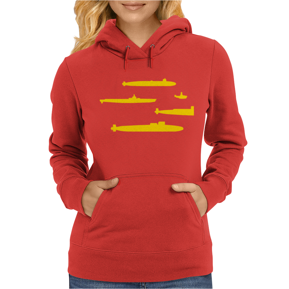 Yellow Submarines Womens Hoodie