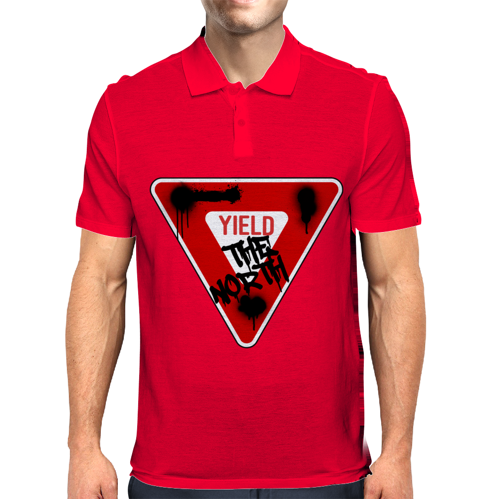 Yield the North Management Logo Mens Polo