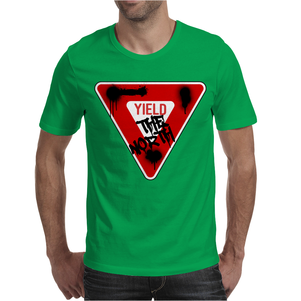 Yield the North Management Logo Mens T-Shirt