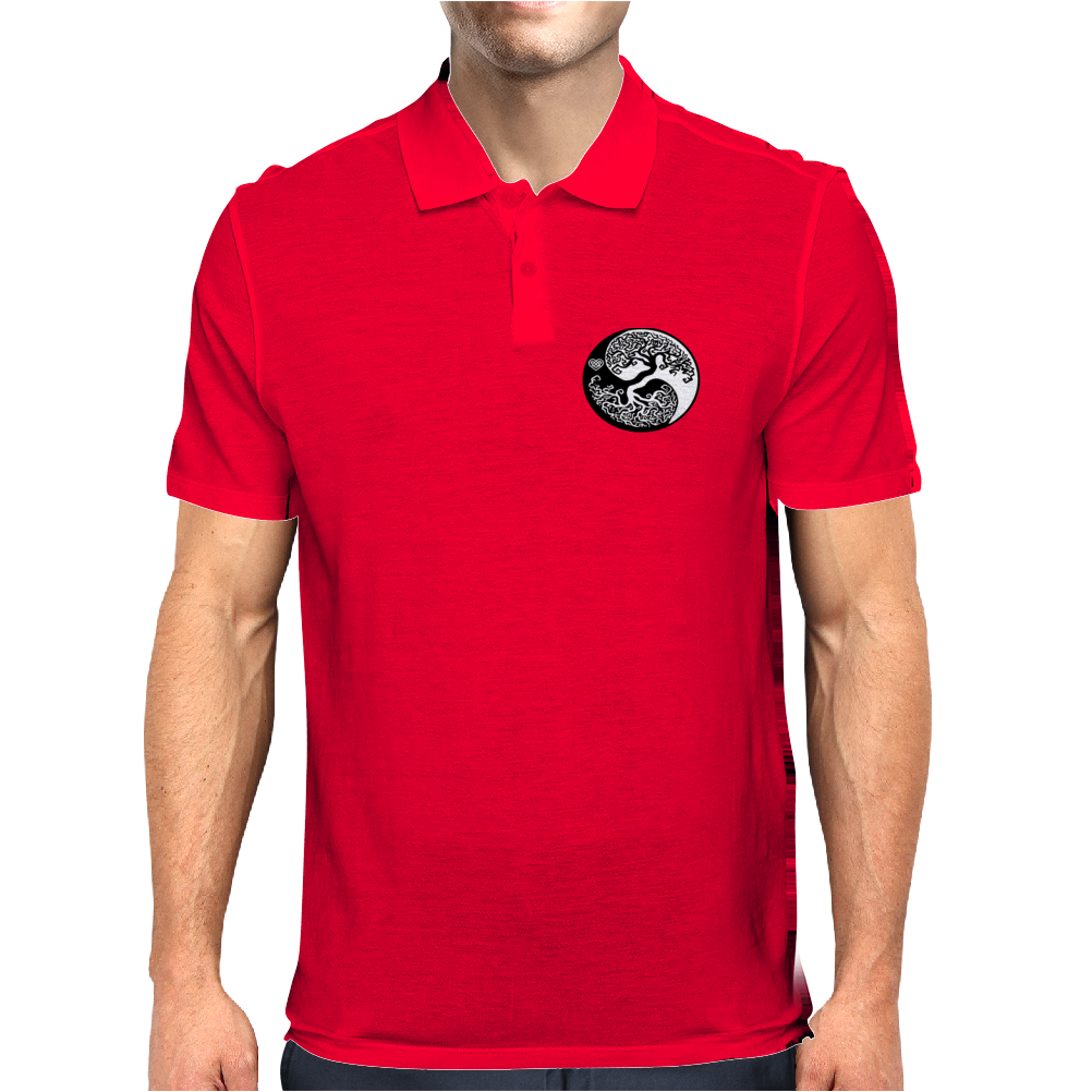 Yin-Yang Perfect Balance Tree Mens Polo