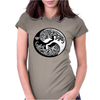 Yin-Yang Perfect Balance Tree Womens Fitted T-Shirt