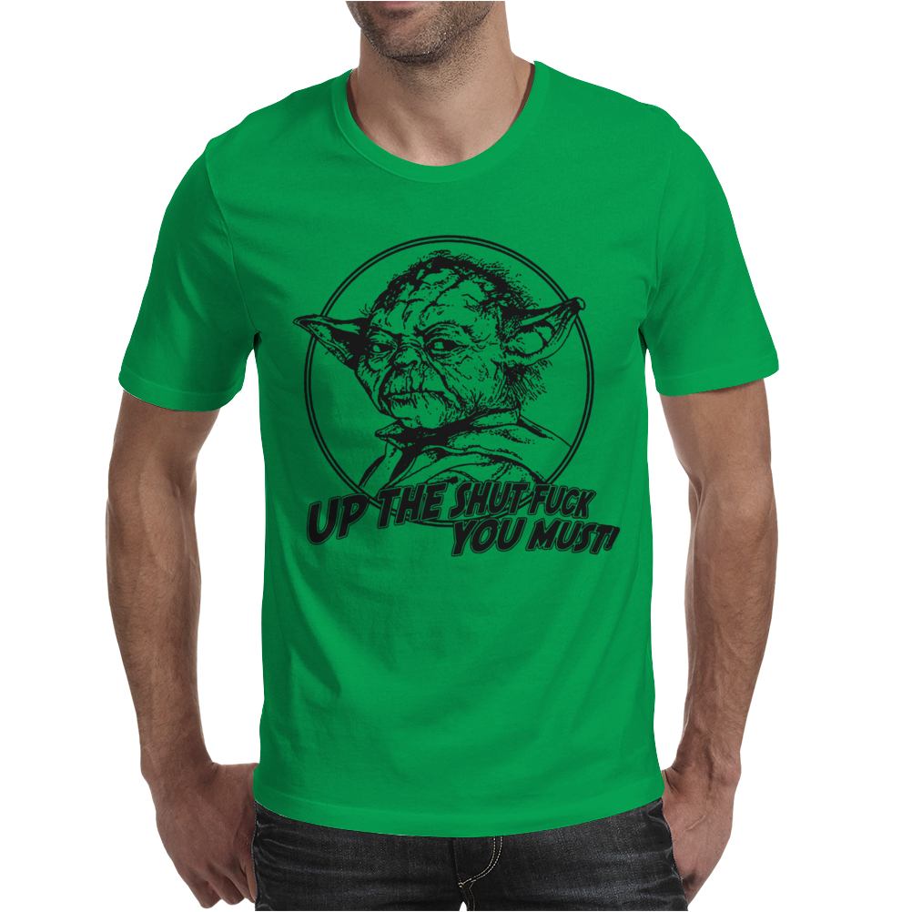 Yoda Funny Slogan Retro Movie Mens T-Shirt