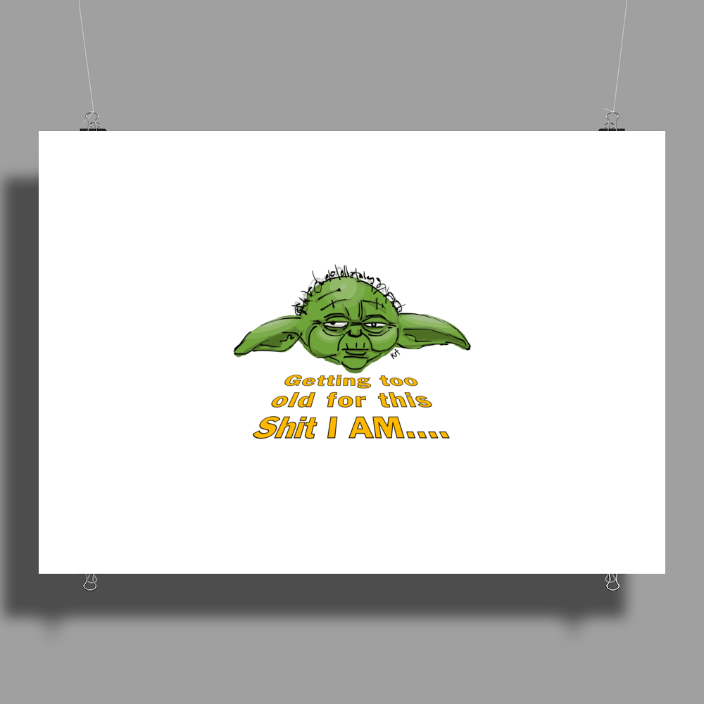Yoda – Getting Old! Poster Print (Landscape)